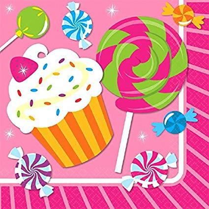 Lollipop clipart sweet shoppe. Amazon com luncheon napkins