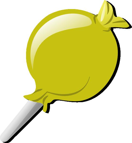 lollipop clipart yellow