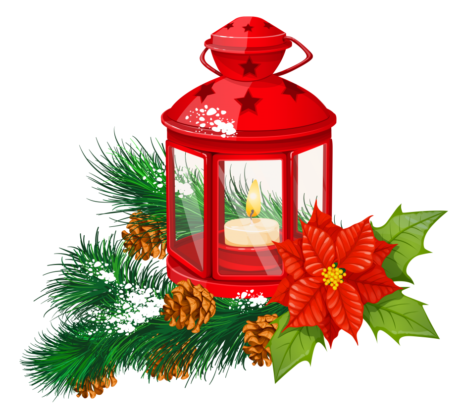Of christmas lanterns collection. Poinsettia clipart swag