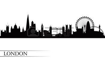 Skyline clipart skyline london. Silhouette city