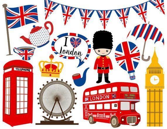 Instant download digital clip. London clipart england clipart