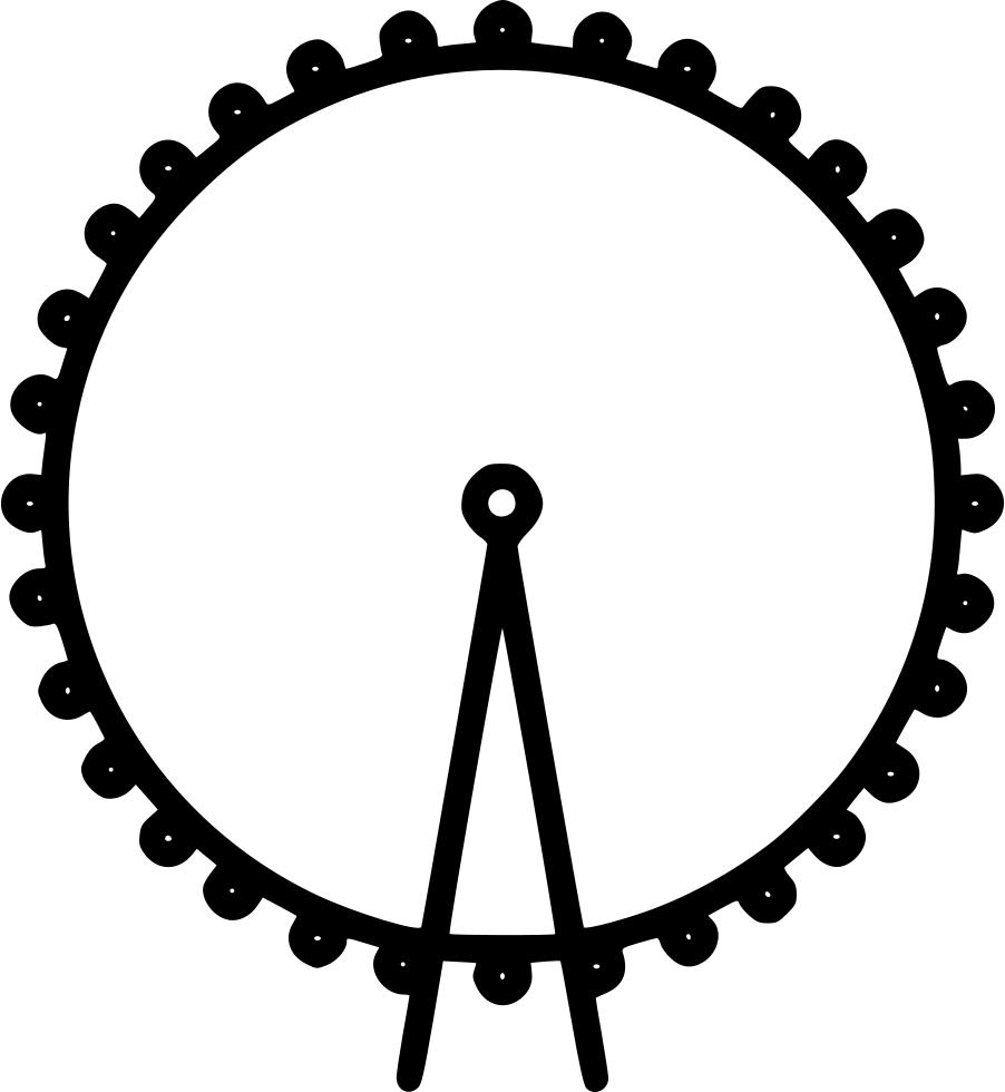 London clipart ferris wheel london. Eye svg png icon