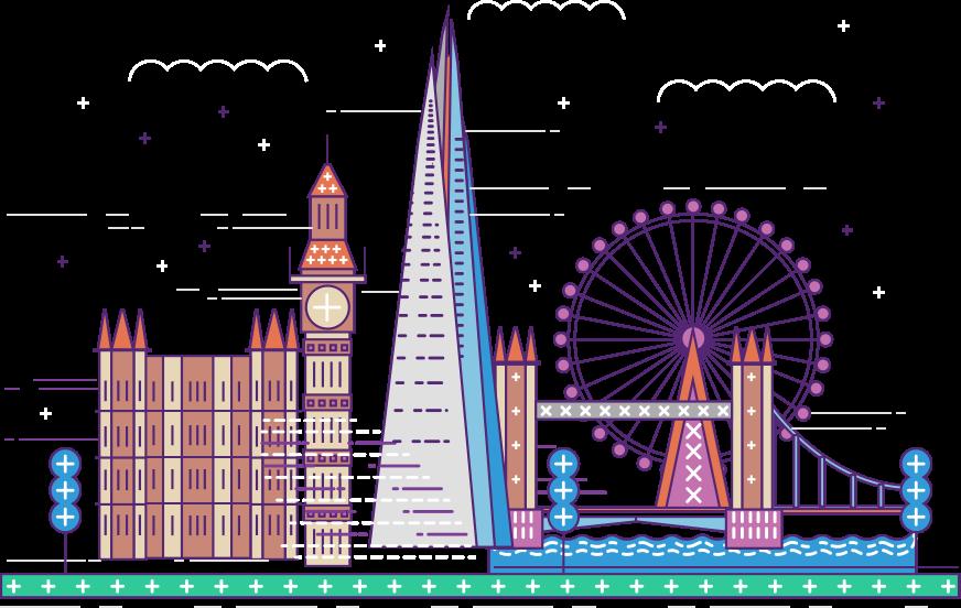 startup salaries powered. London clipart ferris wheel london