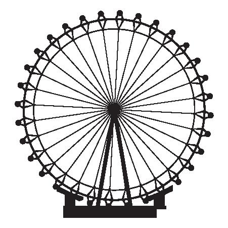 Pin on konsert . London clipart ferris wheel london