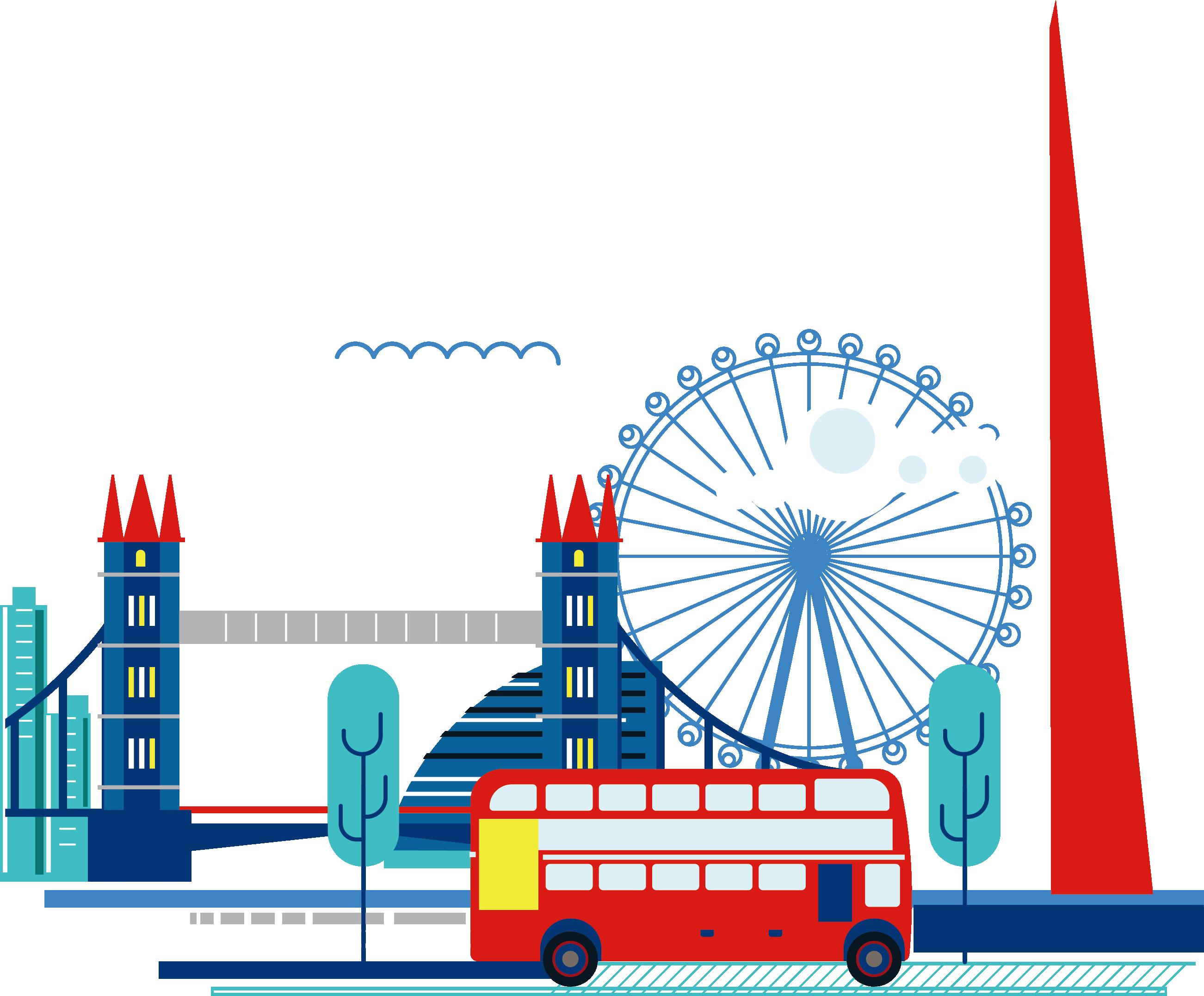 London clipart ferris wheel london. The shard skyline city
