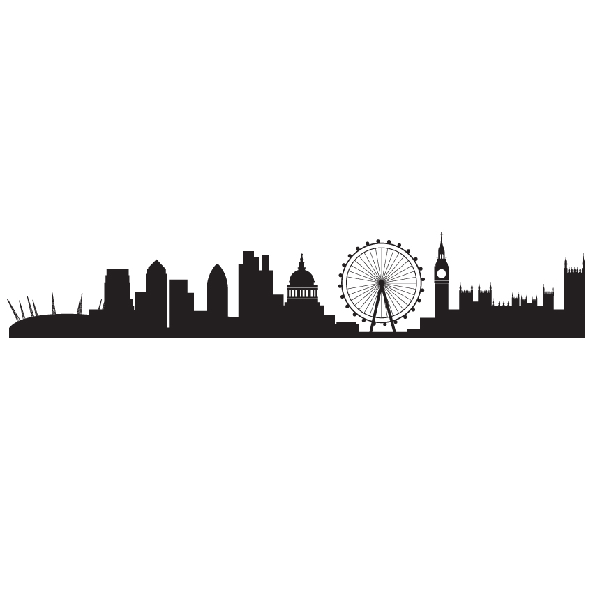 Skyline clipart border. London graphic clip art