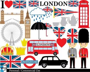 London clipart graphic. Uk set digital clip