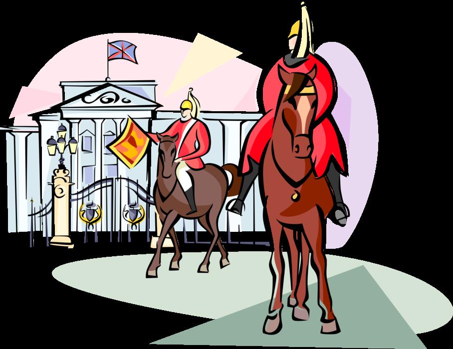 Palace clipart istana. Royal guards at buckingham