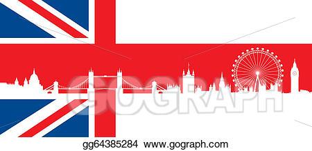 London clipart monument london. Eps vector british flag