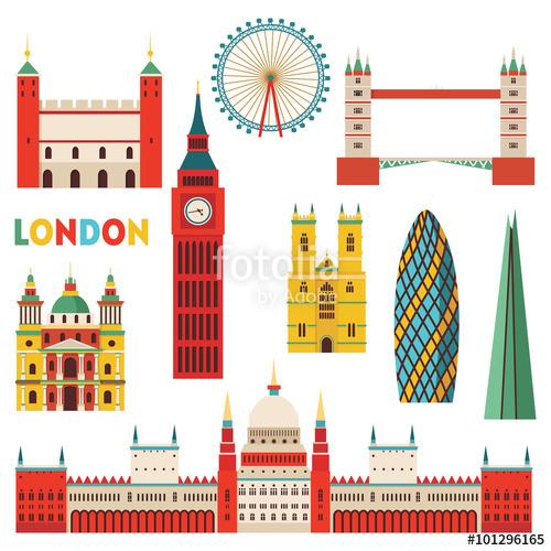 Monuments vector illustration stock. London clipart monument london