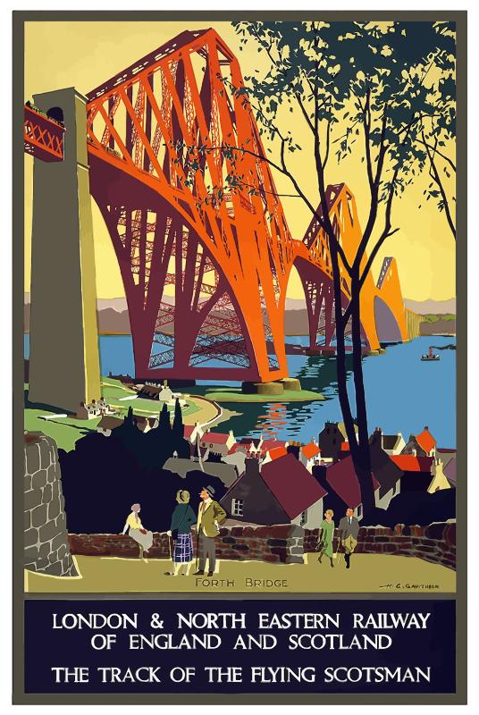 Vintage travel poster england. London clipart retro