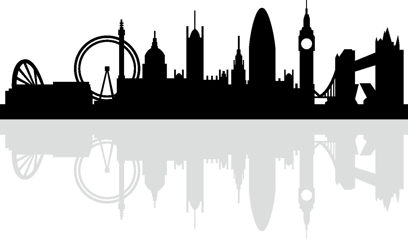 Silhouette royalty free black. Skyline clipart skyline london