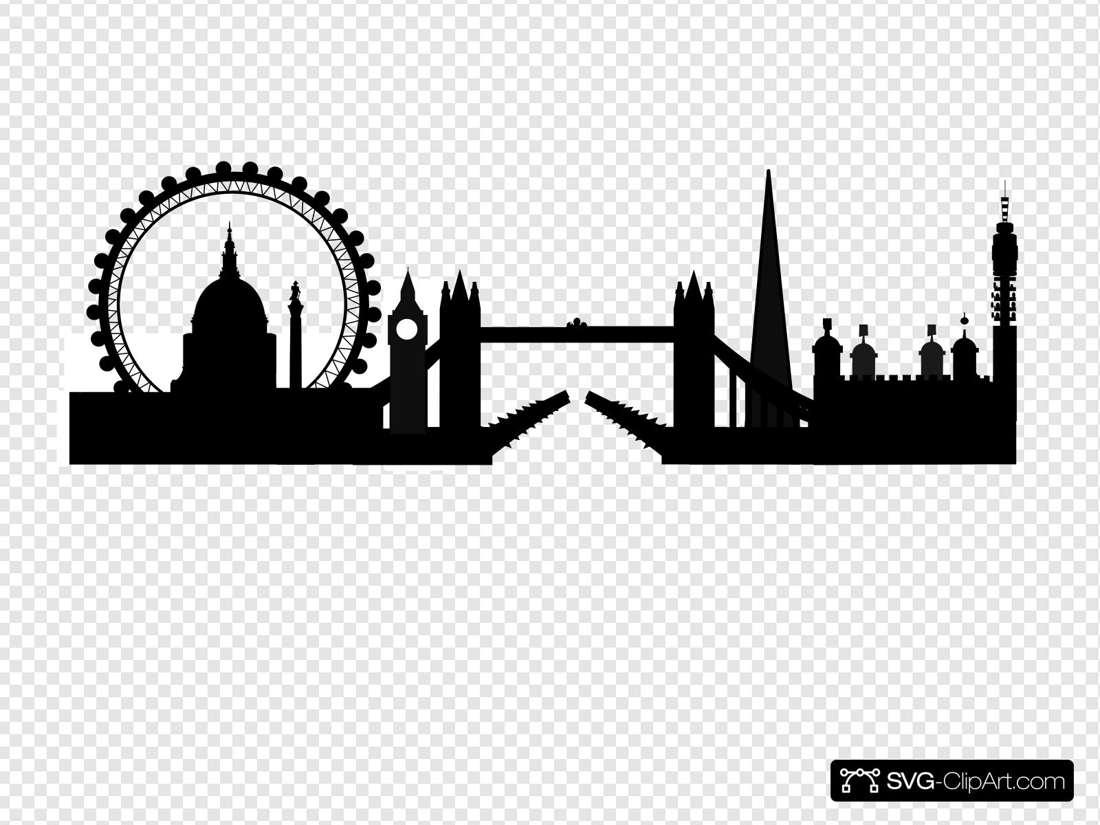 Clip art icon and. Skyline clipart skyline london