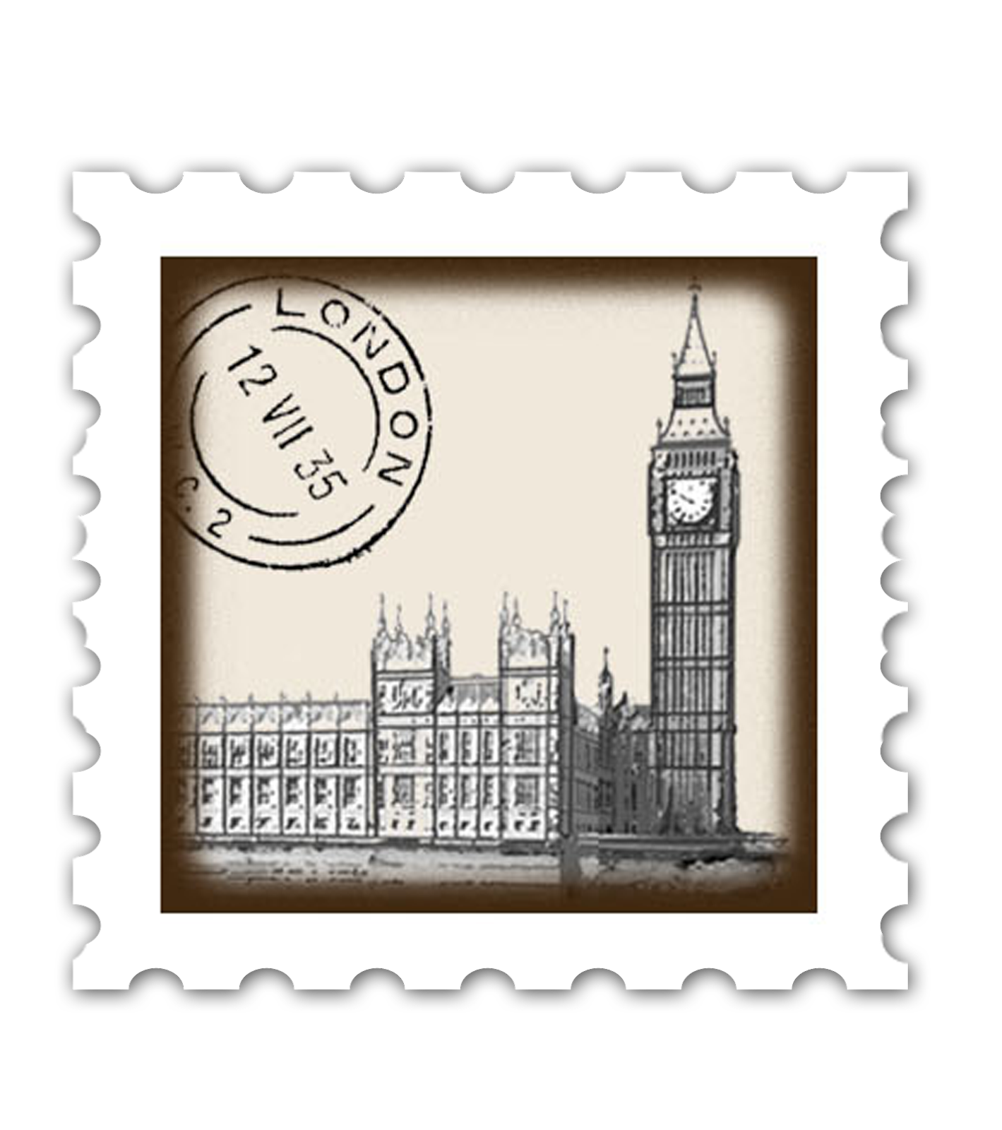 Mail clipart envelope stamp. Place london postage stamps
