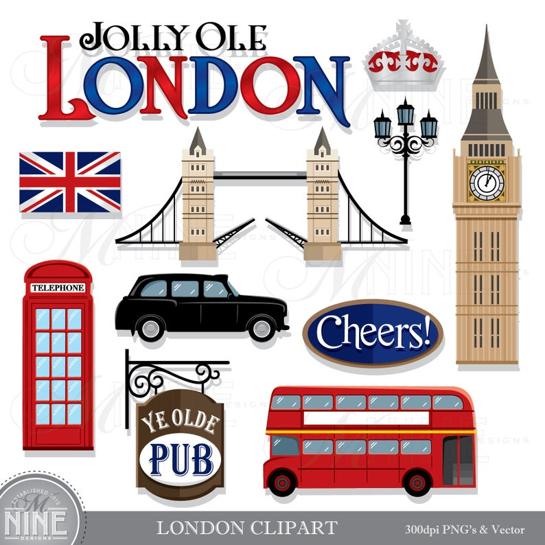 Clip art download vector. London clipart theme london