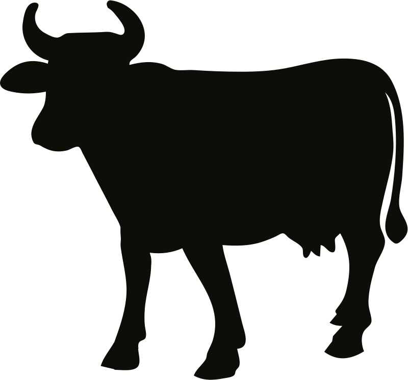 Cattle silhouette at getdrawings. Longhorn clipart beef cow