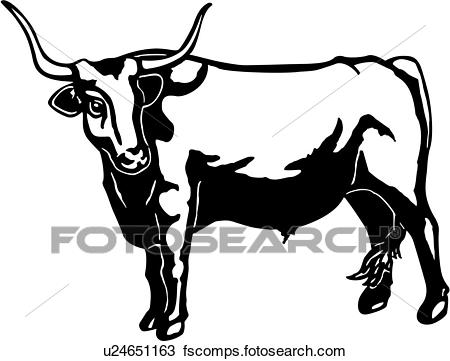 Longhorn clipart black and white. Cattle cliparts free download