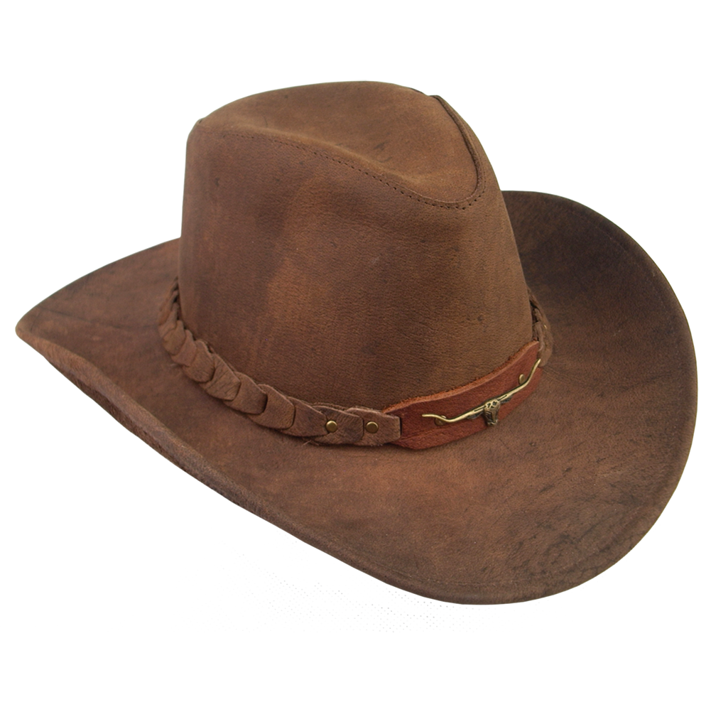 Brumby hat in brown. Longhorn clipart cap