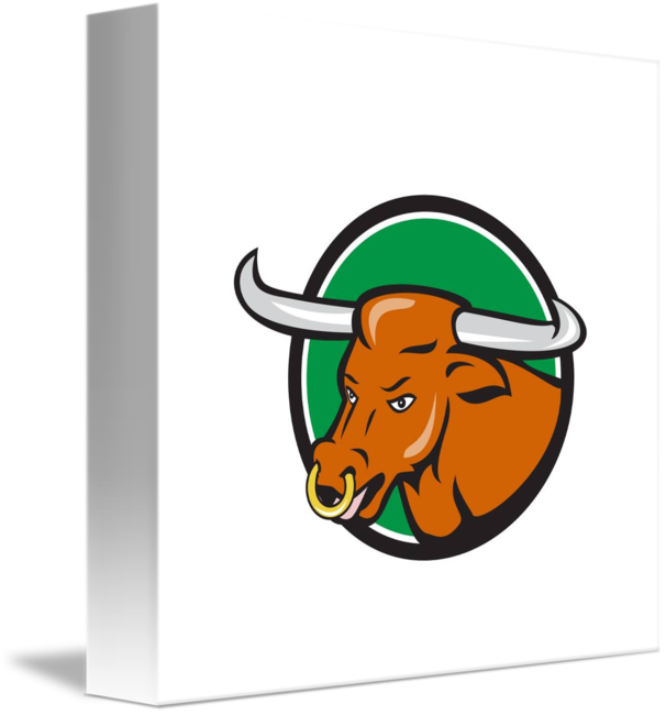 Texas bull head circle. Longhorn clipart cap