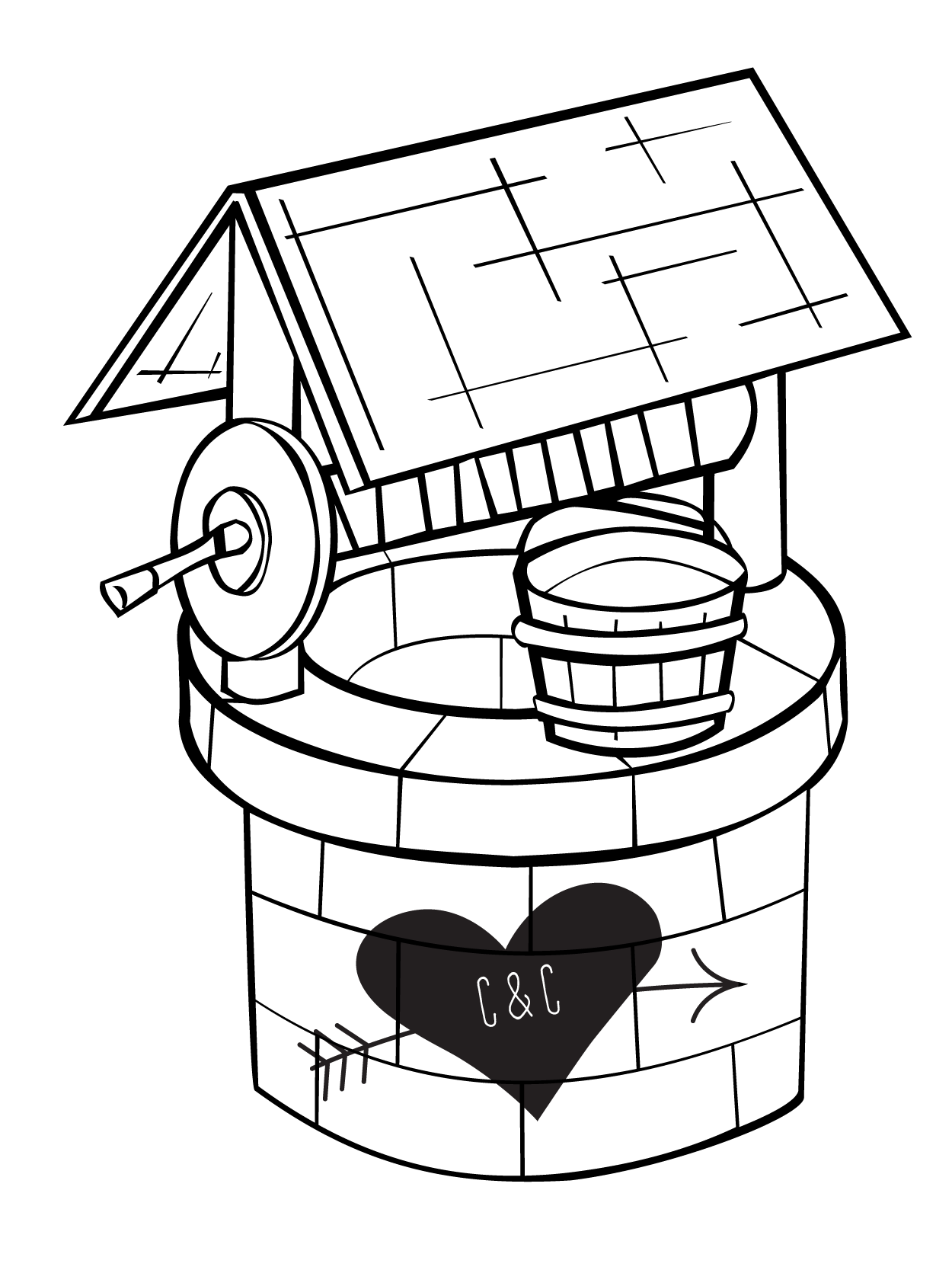 Wishing well animated free. Longhorn clipart cartoon