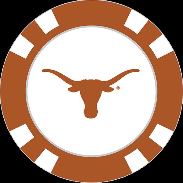 Longhorn clipart cattle drive. Texas longhorns poker chip