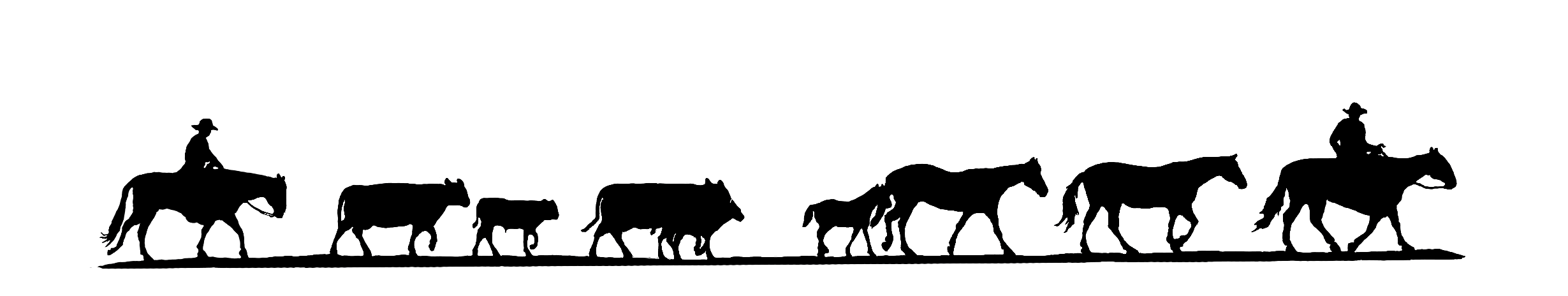 Longhorn clipart cattle roundup. Drive silhouette at getdrawings