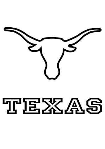Longhorn clipart color. Longhorns texas team coloring