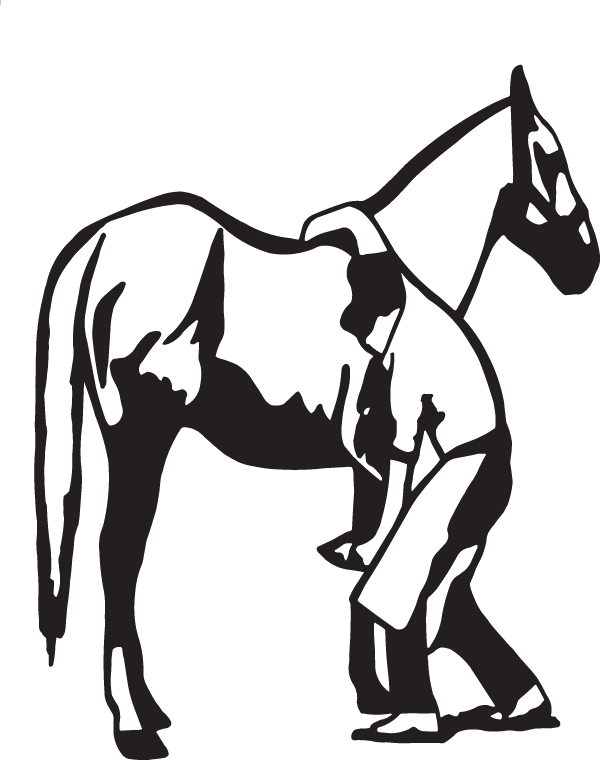 Longhorn clipart decal. Farrier