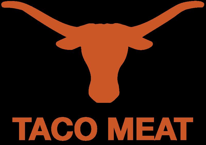 Texas longhorns taco meat. Longhorn clipart design