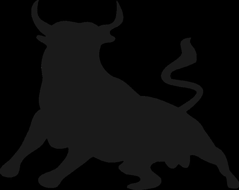 Longhorn clipart embroidery. Angus bull head silhouette