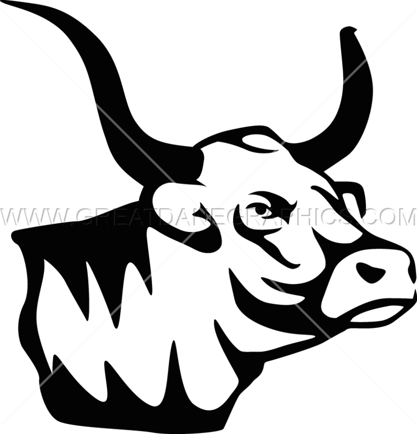 Mascot production ready artwork. Ox clipart longhorn
