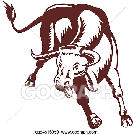 Longhorn clipart illustration. Stock raging texas bull