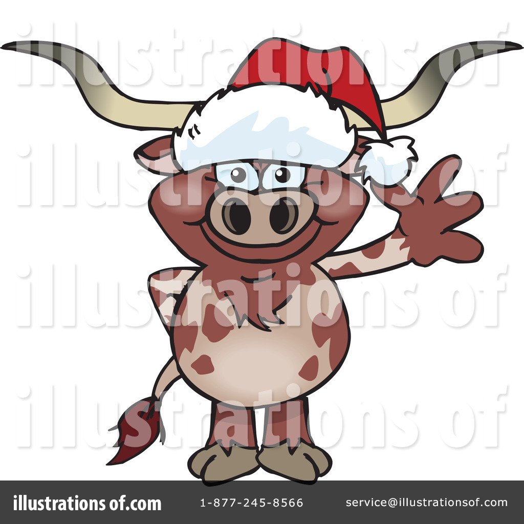 Longhorn clipart illustration. By dennis holmes