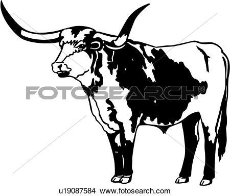 Longhorn clipart longhorn cow.  clip art clipartlook