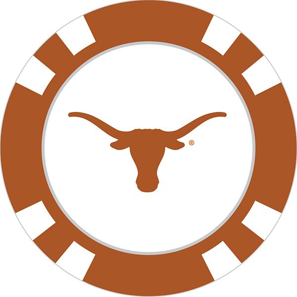 Texas longhorns poker chip. Longhorn clipart longhorn cow
