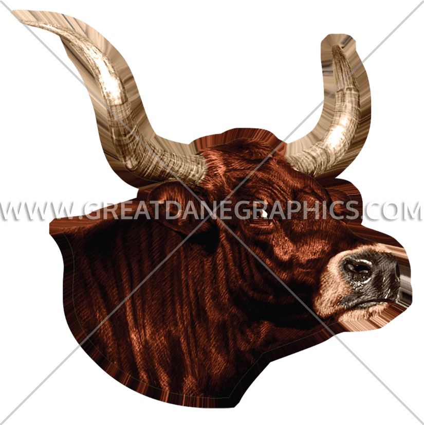 Production ready artwork for. Longhorn clipart mascot