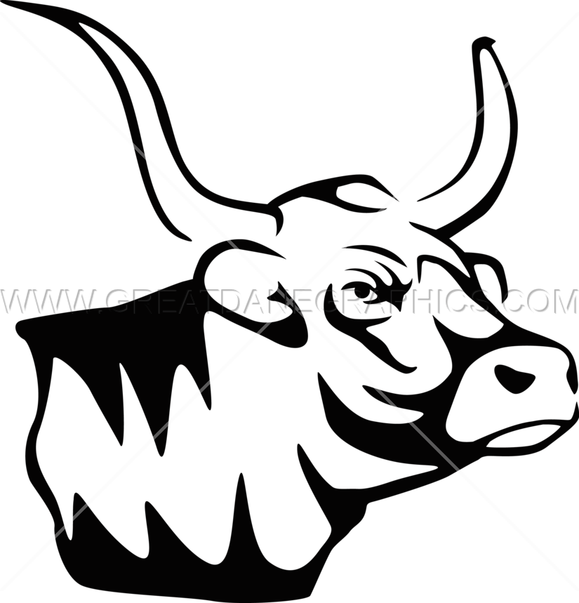 Longhorn clipart mascot. Production ready artwork for