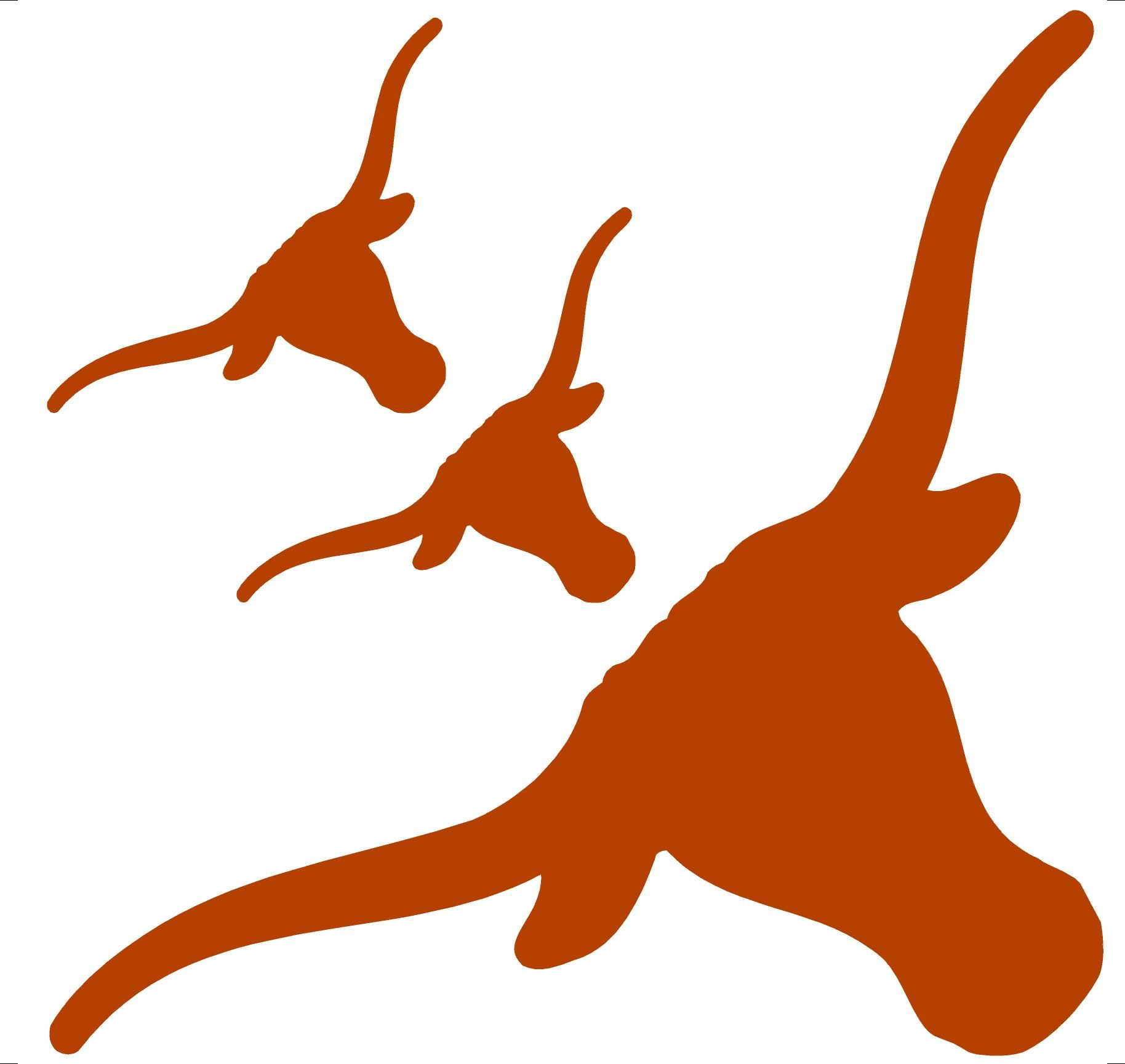 Pin on cricut . Longhorn clipart orange