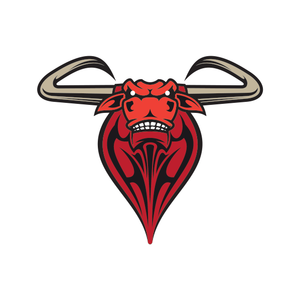 Printed vinyl red bull. Longhorn clipart skeleton