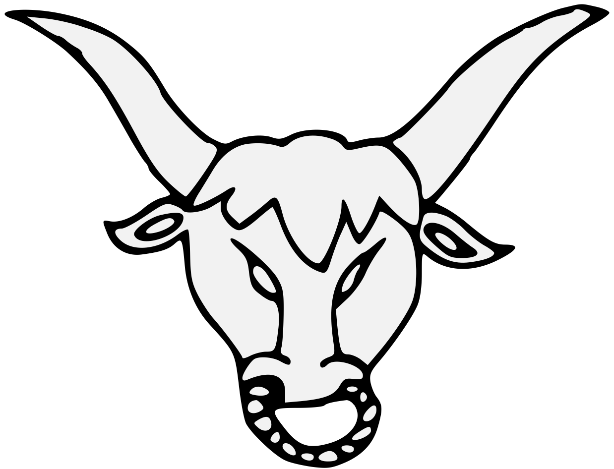 Bull horns drawing at. Longhorn clipart sketch