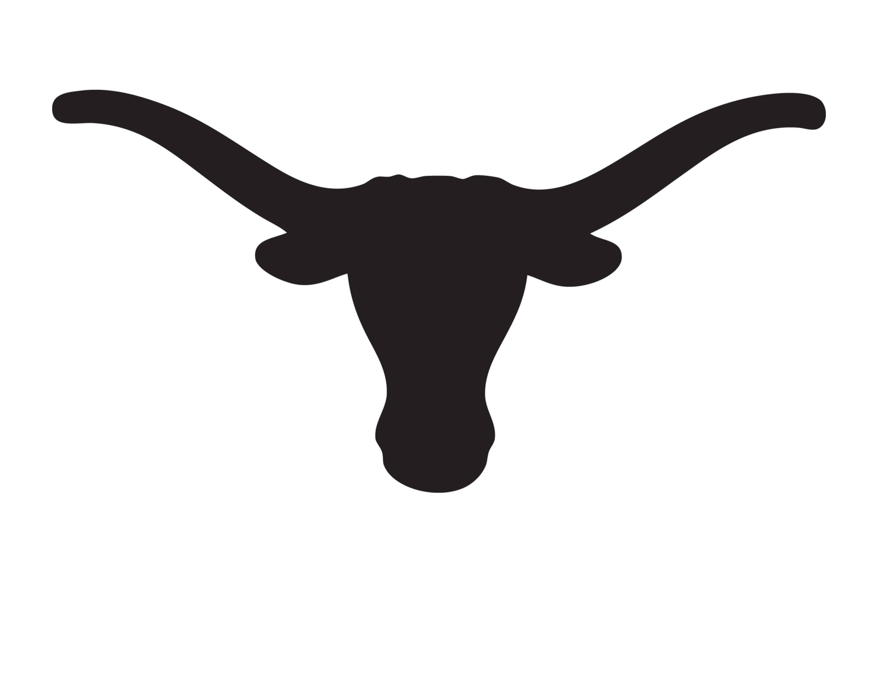 Longhorn clipart stencil. Texas made from ply