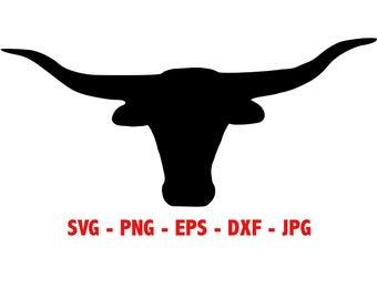 Texas longhorns etsy . Longhorn clipart svg
