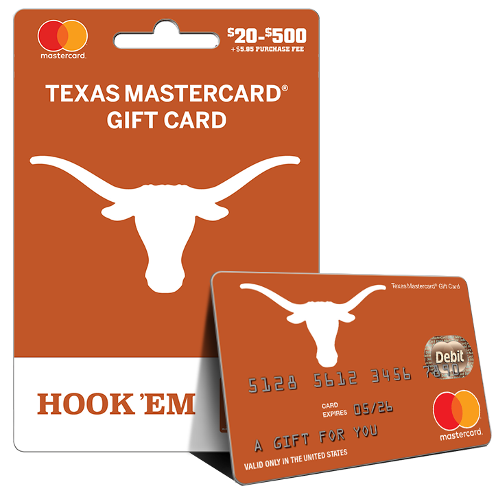 Longhorn clipart texas university. Fancards mastercard gift card