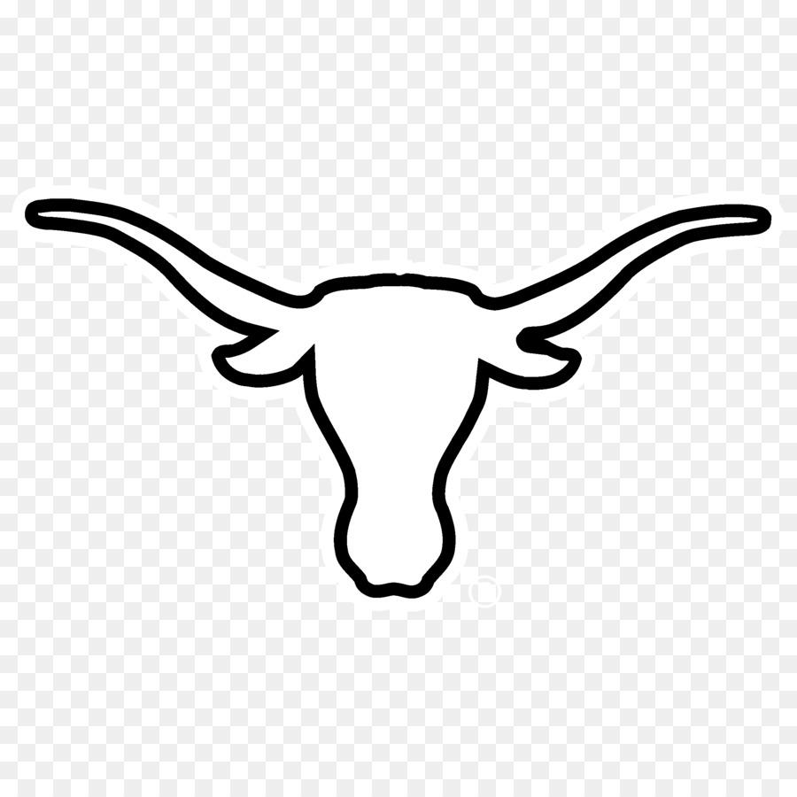 Football logo head line. Longhorn clipart transparent