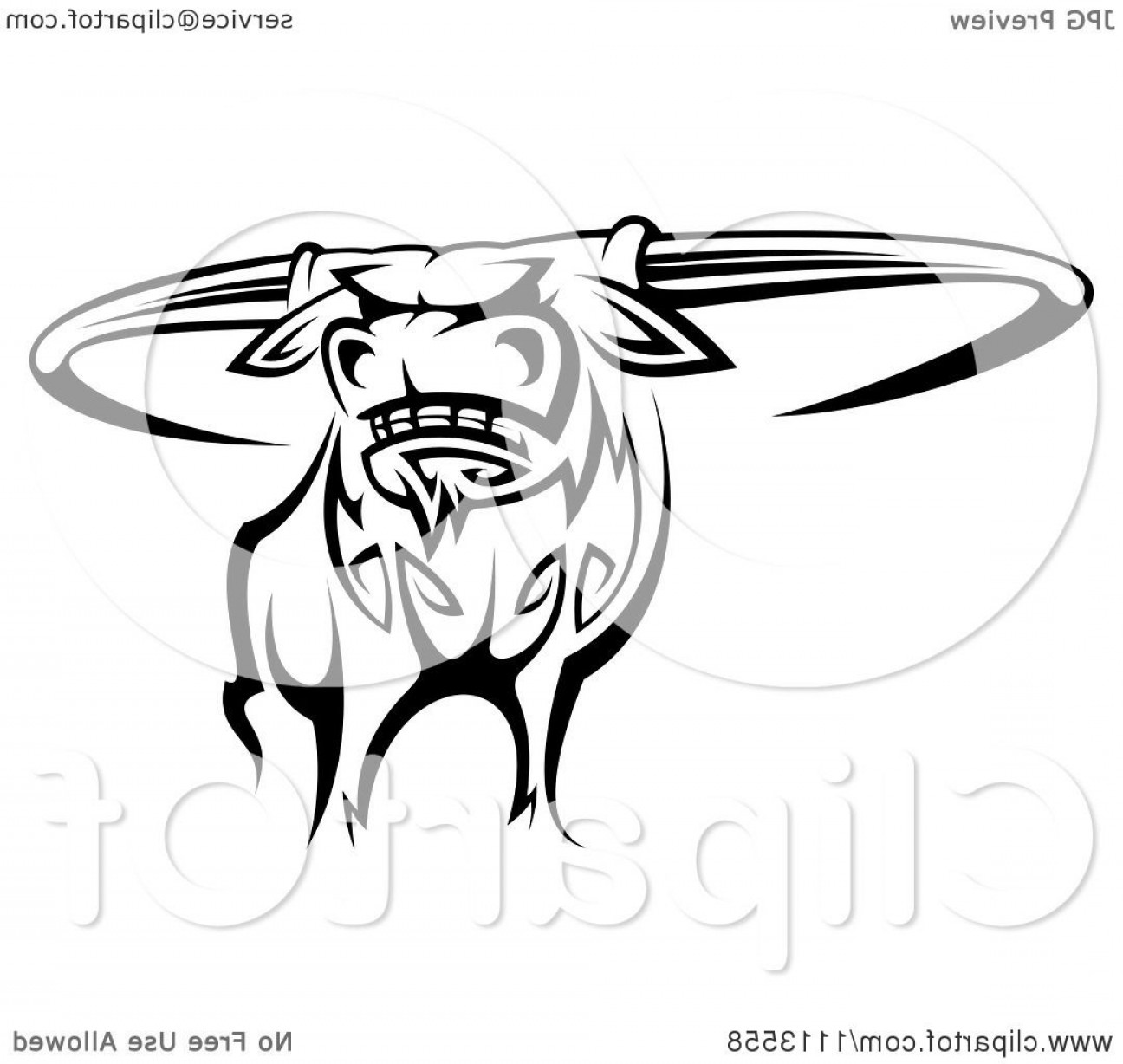 Longhorn clipart tribal. Black and white texas