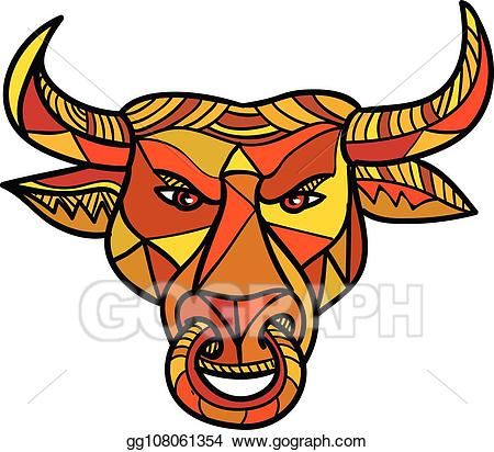 Art texas bull color. Longhorn clipart vector