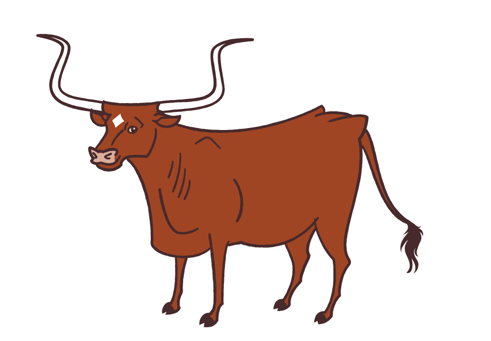 Ox clipart longhorn. Texas animals lin zagorski