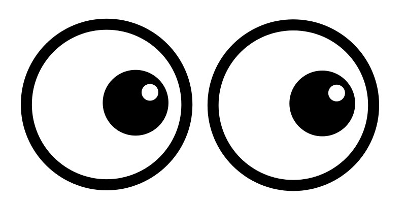 Looking eyes the top. Look clipart