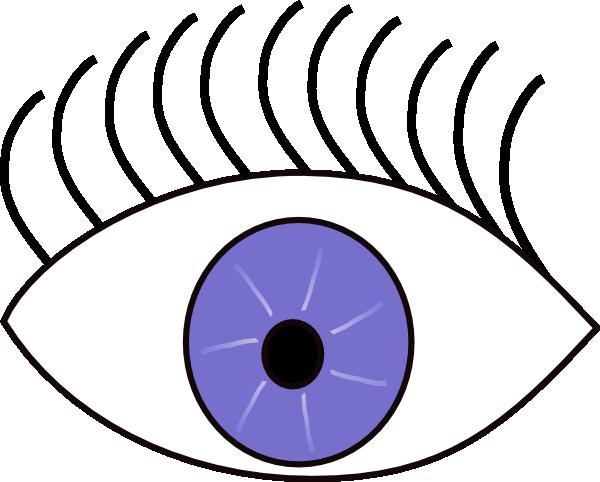 Blue eye looks left. Look clipart