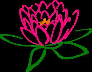 Lotus clipart. Pink clip art at